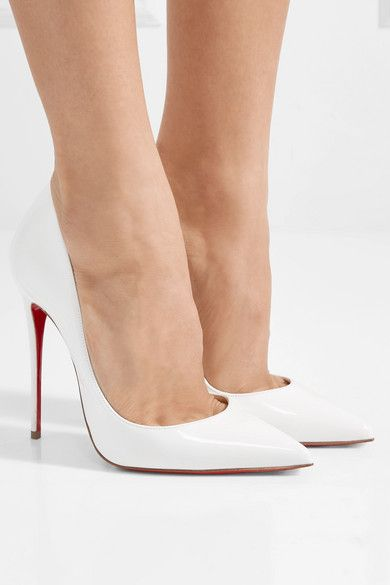 White So Kate 120 patent-leather pumps