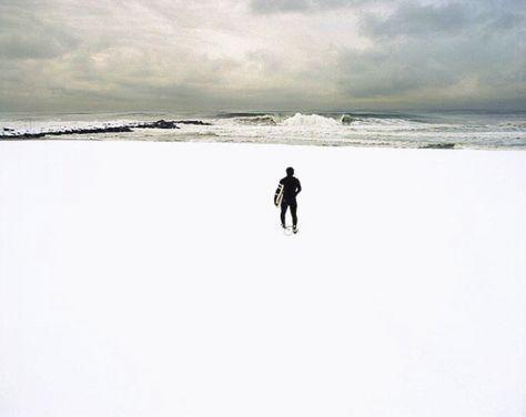 Rockaway Beach with snow