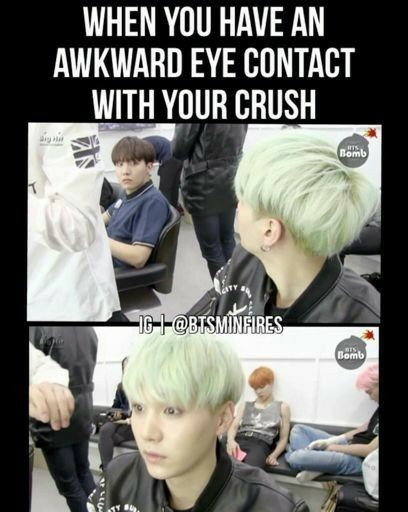 I can't see my crushes eyes he has long flippy hair | BTS chu~ | Bts