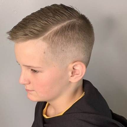Textured Side Swept Hairstyle With High Fade Boy Haircuts Short Boys Fade Haircut Kids Fade Haircut