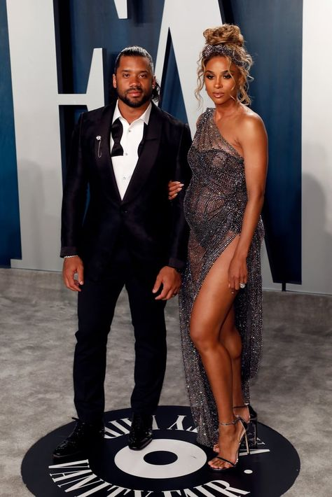 Ciara and Russell Wilson at the Vanity Fair Oscars Afterparty 2020 - Ciara Vanity Fair Oscar's afterparty 2020 - Ciara Style, Ciara And Russell Wilson, Celebrity Wedding Dresses, Celebrity Bikini, Vanity Fair Oscar Party, Black Couples, Beautiful Celebrities, Maternity Fashion, Swagg