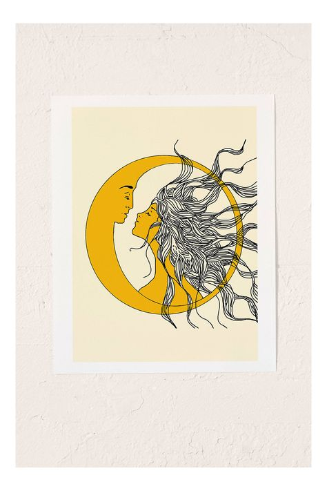 Nadja Sun And Moon Art Print | Urban Outfitters