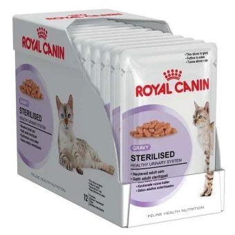 อย าช า Royal Canin Sterilised In Gravy 85g X 12 Pouches โรย ลคาน นอาหารเป ยกแบบซอง ส ตรสำหร บแมวทำหม น อาย 1 10 ป เกรว 12 ซอง ราคาเพ ยง 349 บา Kucing