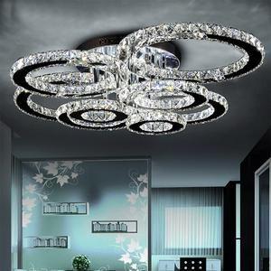 Modern Luxury Led Crystal Stainless Steel Ceiling Lights Eperiodled In 2020 Crystal Ceiling Light Crystal Chandelier Lighting Ceiling Lights
