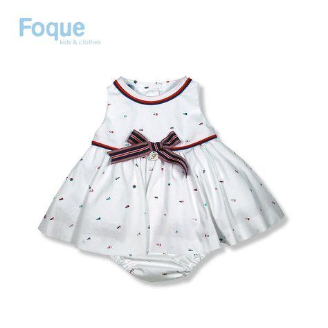 7382741b3 Vestido de ceremonia beige para bebé de Foque Moda Infantil