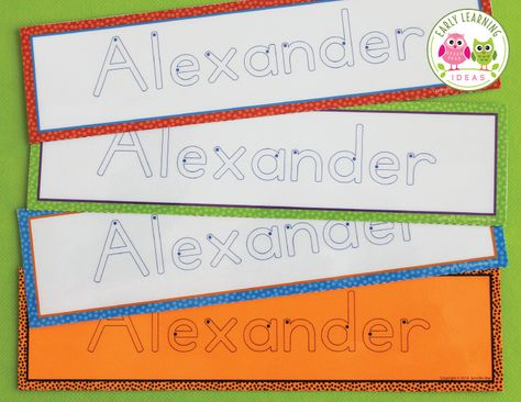 Editable Name Tracing Cards