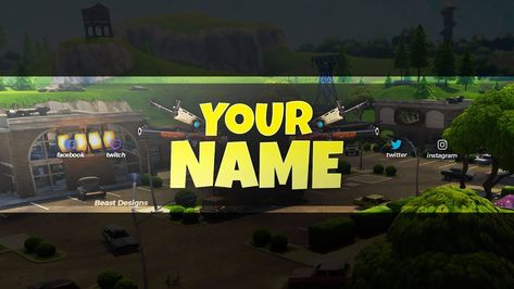 Fortnite Banner For Youtube No Text New Free 2018 Fortnite