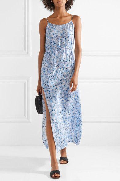 9fe8b2b8bc82e Paloma Blue | Murano floral-print silk-satin midi dress | NET-A-PORTER.COM