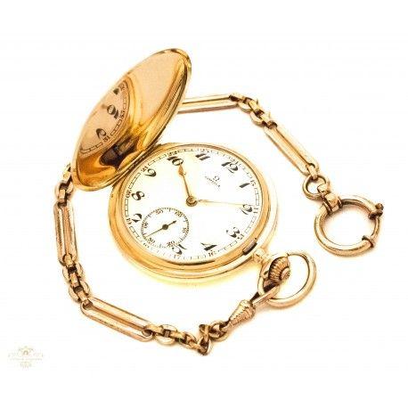 dfdd39f9e Precioso reloj de bolsillo saboneta, de oro macizo 14K de la marca ...