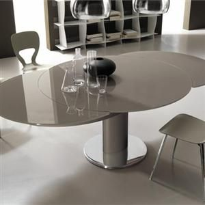 Contemporary Dining Tables Extendable Round Dining Table Modern