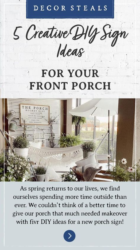 5 Creative DIY Sign Ideas For Your Front Porch