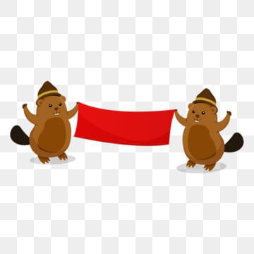 Vector Beaver Hanging Banner Beaver Clipart Vector Invitation Png And Vector With Transparent Background For Free Download Beaver Clipart Background Banner Hanging Banner