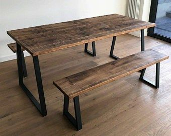 Table Base Dinning Table Modern Furniture Powder Etsy In 2020 Dining Table With Bench Industrial Dining Room Table Industrial Dining Table