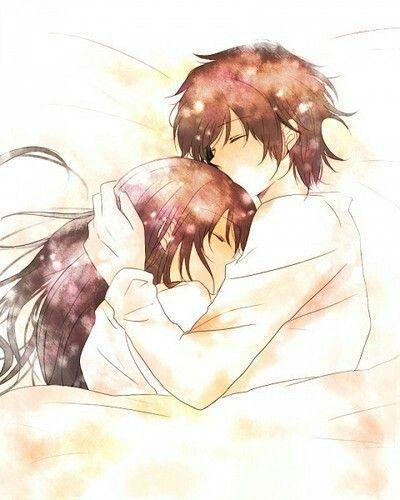 Anime Couple Sleeping