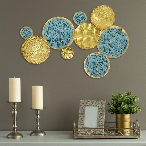 Stratton Home Decor Jewels Of The Sea Metal Plates Wall