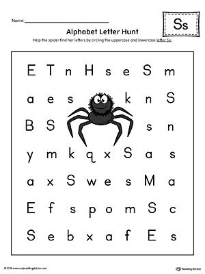 Finding And Connecting Letters Letter S Worksheet Color Alphabet Letter Hunt Letter S Worksheets Lettering Alphabet Letter hunt worksheet kindergarten