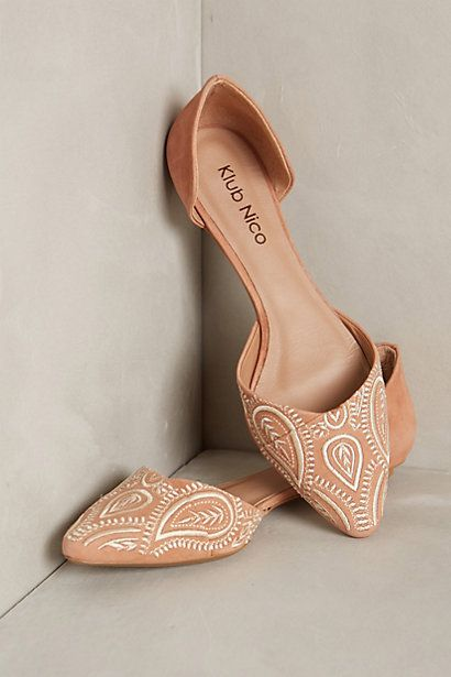 These are cute for a casual day. Libeccio Flats - anthropologie.com