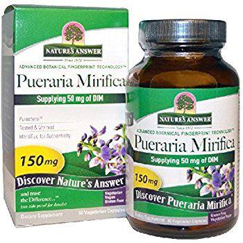 Nature S Answer Pueraria Mirifica Vegetarian Capsules 60 Count Affiliate Herbalism Veggie Capsule Vegetarian