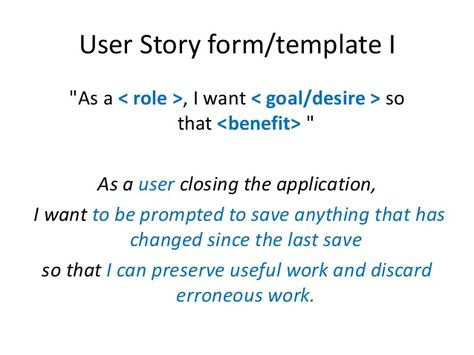 User stories in agile software development Career Pinterest - user story template