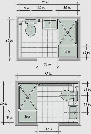 5x8 Bathroom Layout Beautiful Small