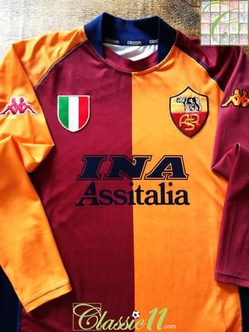 the latest 50675 d9c81 Official Kappa Roma European long sleeve football shirt from ...