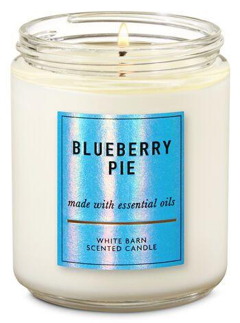 2 BLUEBERRY PIE 3 Wick 14.5 oz Candles TWO!! Bath /& Body Works