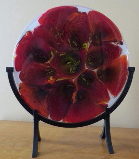 Pot Melt In Lucious Red - by Fused Glass by Design