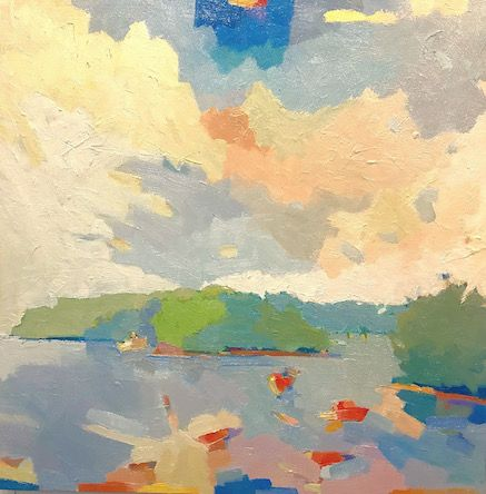 Near Boothbay Harbor Maine Porters Preserve Oil On Canvas 20 X