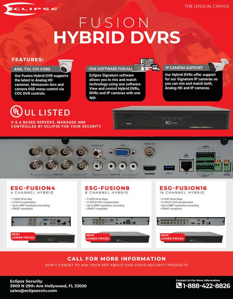 Fusion Hybrid DVRs – Eclipse Security