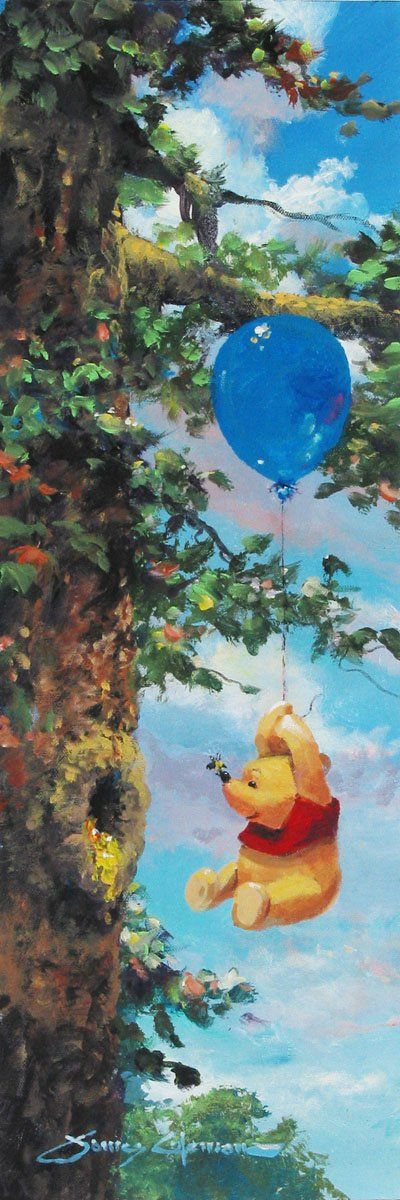 Winnie the Pooh Walt Disney Fine Art James Coleman Signed Limited Edition of 195 on Canvas