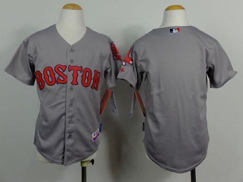 Youth MLB Boston Red Sox Blank Grey 2014 Jerseys 459dab7cace