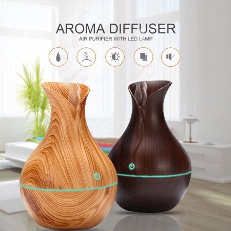 LED Ultrasonic Aromatherapy Humidifier Aroma Essential Oil Diffuser Air Purifier