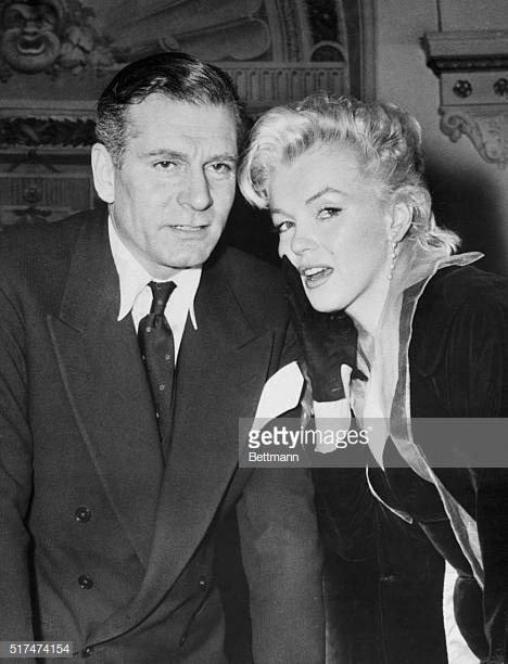 Marilyn Monroe And Sir Laurence Olivier At Press Conference