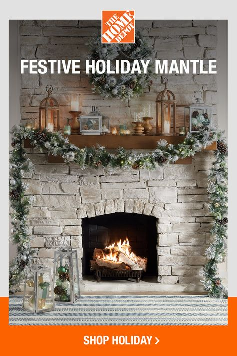 Your mantel is a wonderful place to showcase your holiday spirit. Go bold and colorful, or keep the color scheme to a minimum for a timeless display. Click to shop online now at The Home Depot to find everything you need for your holiday decor.