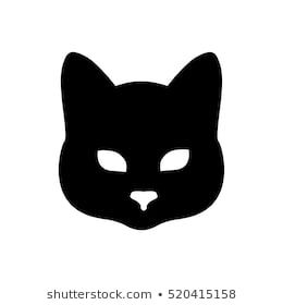 Cat Head Silhouette Images Stock Photos Vectors Shutterstock Animal Line Drawings Silhouette Images Silhouette Drawing
