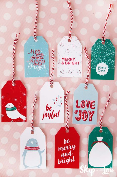 Every year I love sharing printable Christmas gift tags to help make your packages pretty! Get your free gift tags here today!