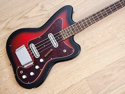 1966 Silvertone 1443 Vintage Electric Bass Guitar Full Scale Danelectro Usa In 2020 Guitar Case Electric Bass Bass Guitar