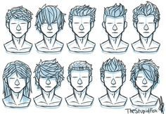 Random Hairstyles Male By Thestupidfox In 2020 Drawing Hair Tutorial Drawings Pinterest Drawing Male Hair