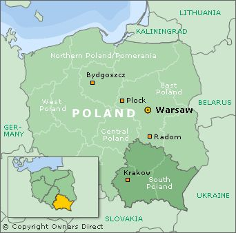 krakow poland map Google Search Travel meandering Pinterest