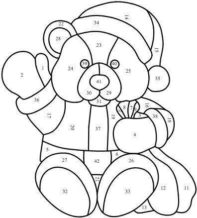 Santa Teddy bear pattern