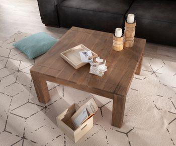 Couchtisch Indra Akazie Braun 80x80 Cm Massivholz Bild 1 Couchtisch Massivholz Couchtisch Holz Wohnzimmertische