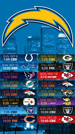 Los Angeles Chargers 2019 Mobile City Nfl Schedule Wallpaper Los Angeles Chargers Chargers Los Angeles