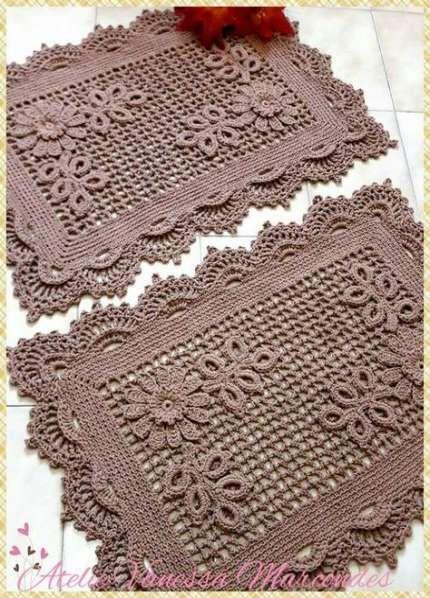 Trendy crochet doilies placemat rugs 68 Ideas #crochet