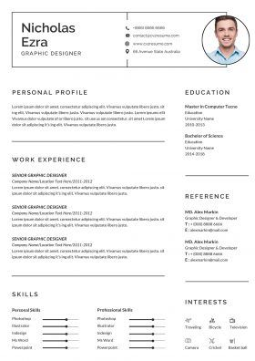 Cv Templates To Download Microsoft Word Format Doxc Perfect Resume Example Cv Template Resume Template Examples