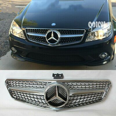 Details About Diamond Front Grille Grill Fit Mercedes Benz W204 C
