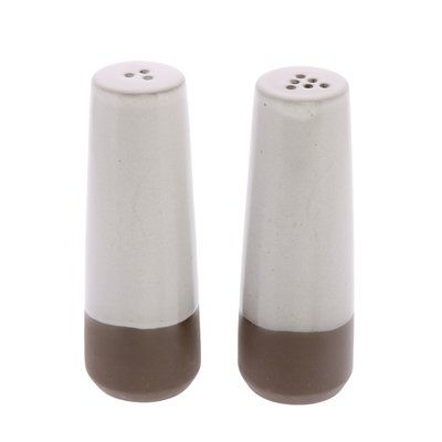 Areohome Maya Salt Pepper Shaker Set Color White Brown In 2020