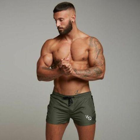 Men Casual Gyms Shorts Fitness Bodybuilding Summer Jogger Workout Beach Pants
