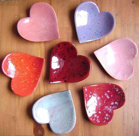 Wedding gift Heart jewelry holder Ceramic heart shaped bowl teabag holder Heart ring dish spoon rest trinket dish Soap dish
