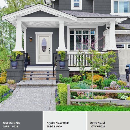 Glidden High Endurance Plus Exterior Paint And Primer Dark Grey Silk 30bb 13 034 Walmart Com Exterior Gray Paint Exterior Paint House Paint Exterior