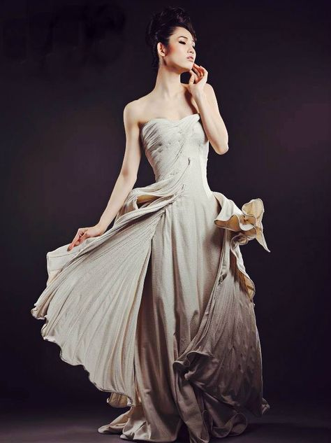 Image of Milky White/Lace Evening Gown   2015 Evening Gowns ...